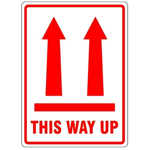 Vertical Arrows THIS WAY UP