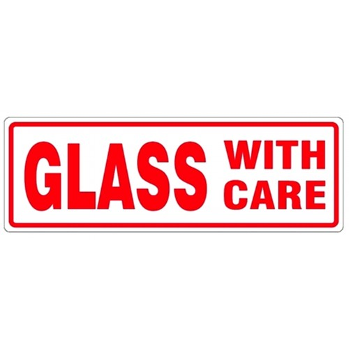 GLASS WITH CARE - Parcel Labels