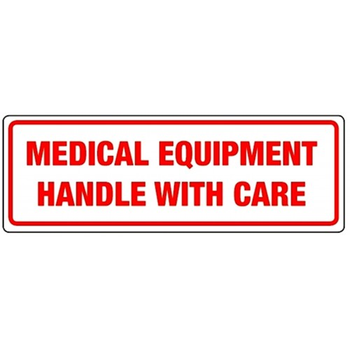 MEDICAL EQUIPMENT HANDLE WITH CARE - Parcel Labels