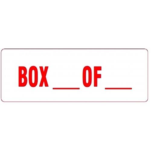 BOX __ OF __ - Parcel Labels
