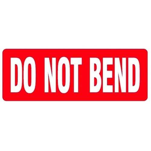 DO NOT BEND - Parcel Labels