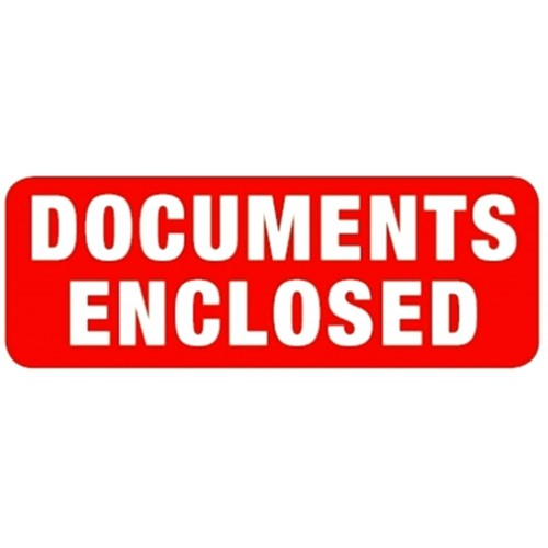 DOCUMENTS ENCLOSED - Parcel Labels