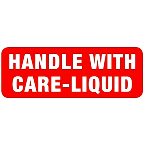 HANDLE WITH CARE - LIQUID - Parcel Labels