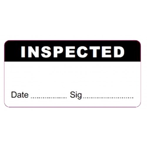 INSPECTED - Quality Control Labels