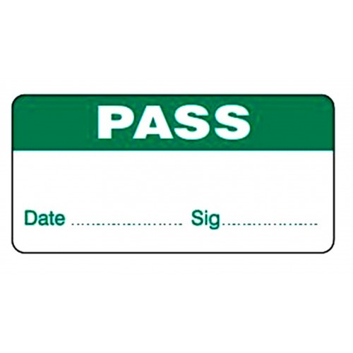 PASS - Quality Control Labels