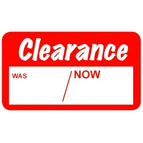 Clearance - Retail Promotion Labels