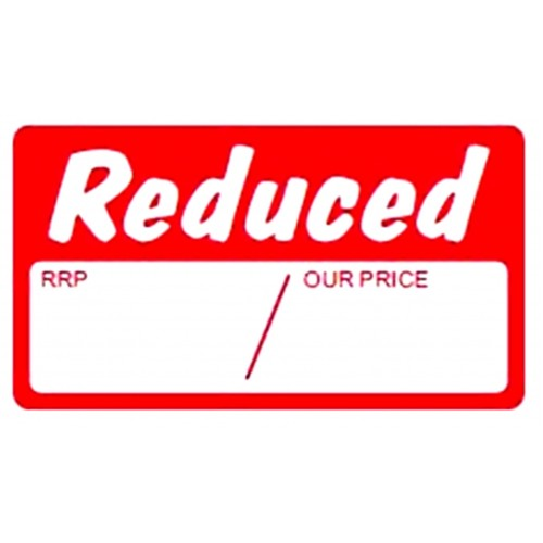 Reduced - Retail Promotion Labels