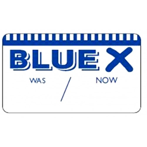 BLUE X - Retail Promotion Labels