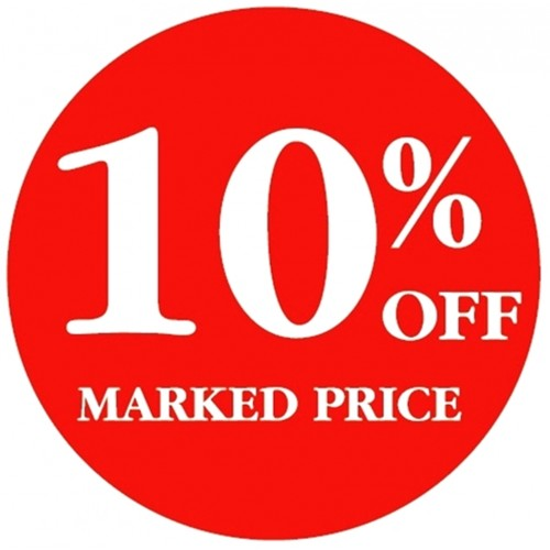 10% OFF MARKED PRICE - Retail Promotion Labels