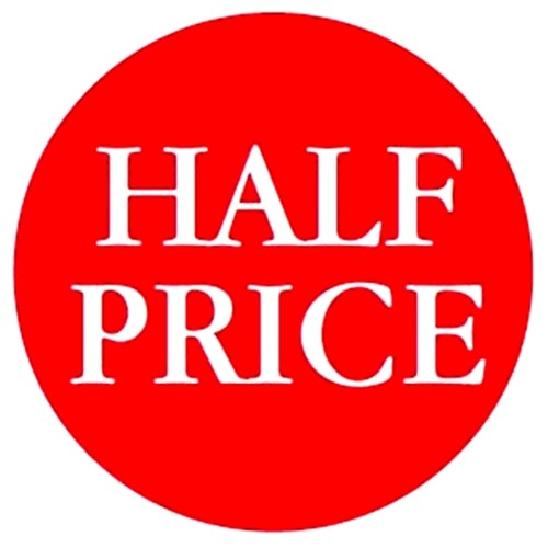 HALF PRICE - Retail Promotion Labels