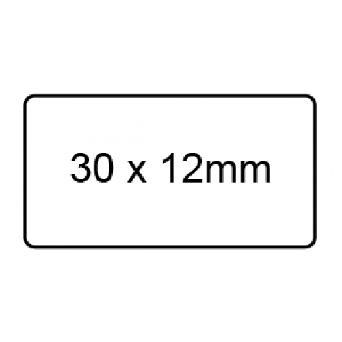 30 x 12mm - Clear Sealing Labels