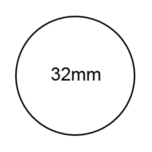 32mm - Clear Sealing Labels