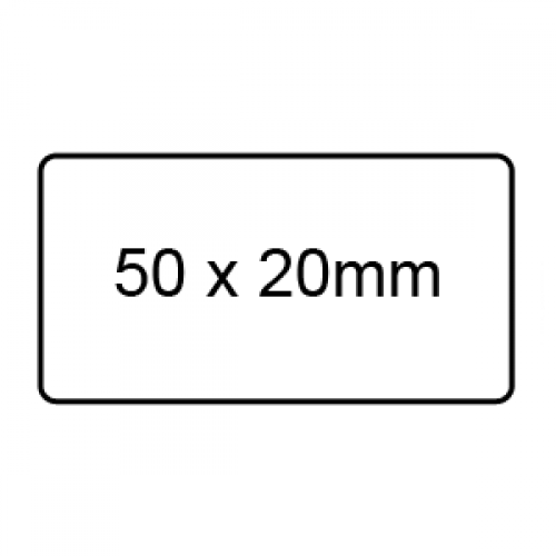 50 x 20mm - Clear Sealing Labels