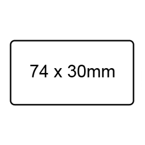 74 x 30mm - Clear Sealing Labels