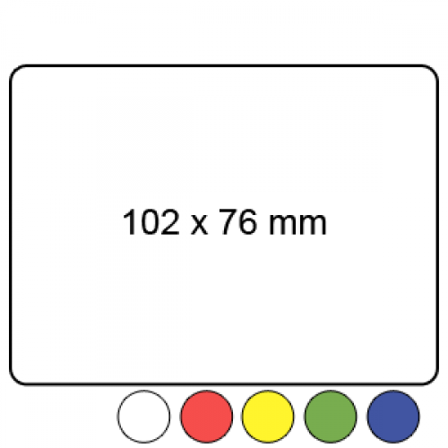 102mm x 76mm - Plain Reel Labels