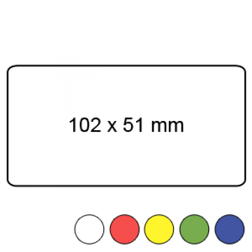 102mm x 51mm - Plain Reel Labels