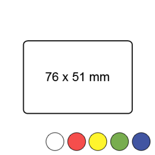 76mm x 51mm - Plain Reel Labels