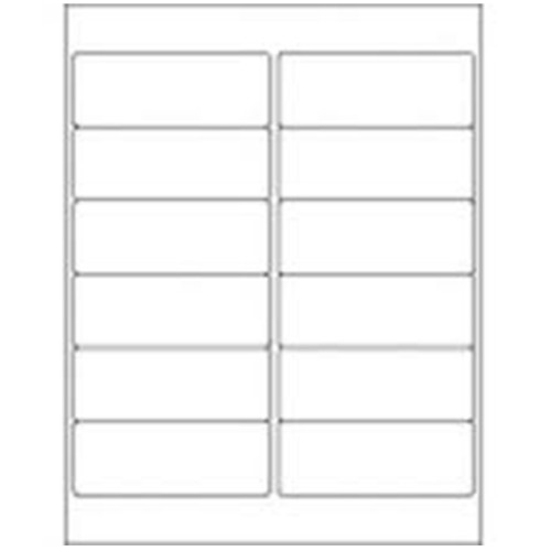 105 x 49.5mm (12/Sheet) - A4 Sheet Labels (100 Sheets)