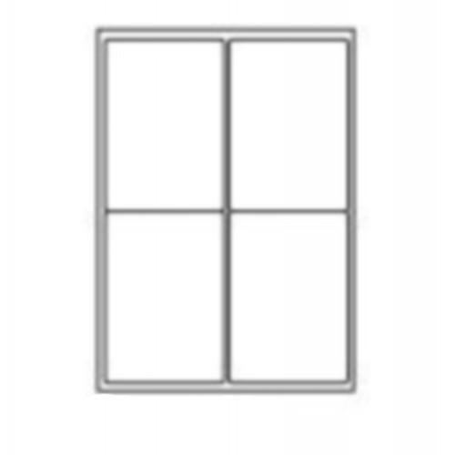 99.1 x 139mm (4/Sheet) - A4 Sheet Labels (100 Sheets)