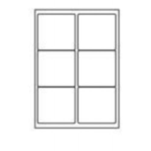 99.1 x 93.1mm (6/Sheet) - A4 Sheet Labels (100 Sheets)