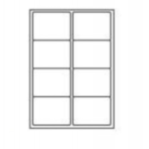 99.1 x 67.7mm (8/Sheet) - A4 Sheet Labels