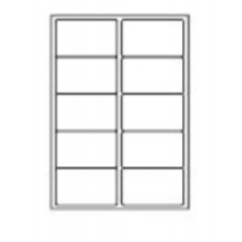 99.1 x 57.3mm (10/Sheet) - A4 Sheet Labels