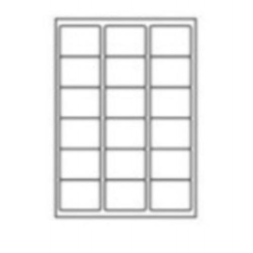 63.5 x 46.6mm (18/Sheet) - A4 Sheet Labels (100 Sheets)