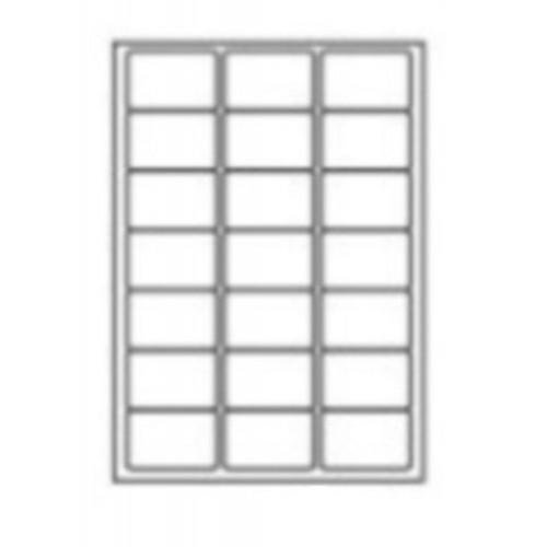 63.5 x 38.1mm (21/Sheet) - A4 Sheet Labels