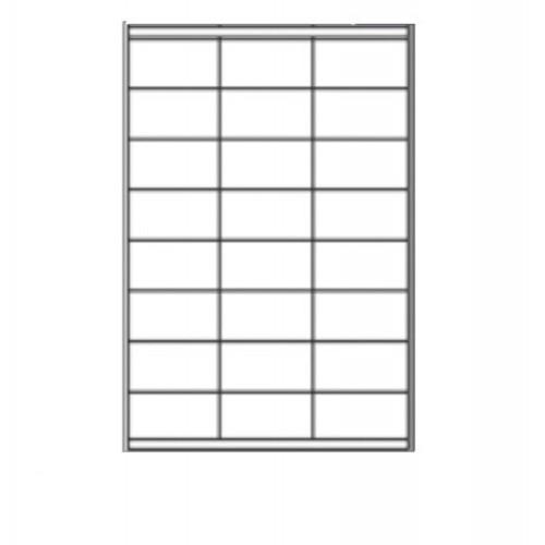 63.5 x 33.9mm (24/Sheet) - A4 Sheet Labels (100 Sheets)