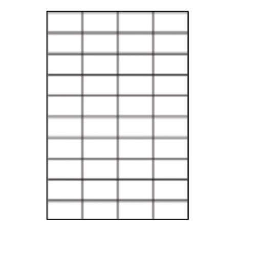 45.7 x 25.5mm (40/Sheet) - A4 Sheet Labels (100 Sheets)