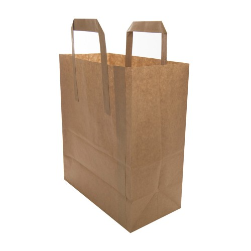 "Brown Kraft Paper Carrier Bags (8.5""x13""x10"" / 216x330x254mm)"