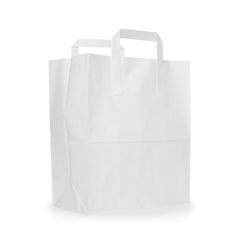 """White Paper Carrier Bags (10""""x15.5""""x12"""" / 254x394x305mm)"""