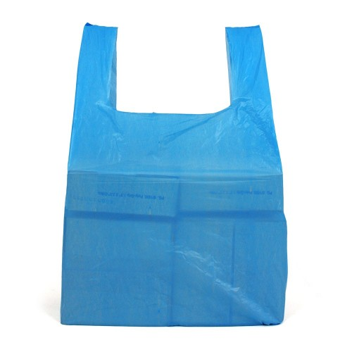 "Blue Vest Plastic Carrier Bags (11x16.5x20"" / 280x410x510mm)"