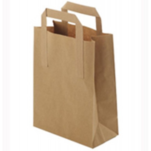 "Brown Kraft Paper Carrier Bags (10x15.5x12"" / 254x394x305mm)"