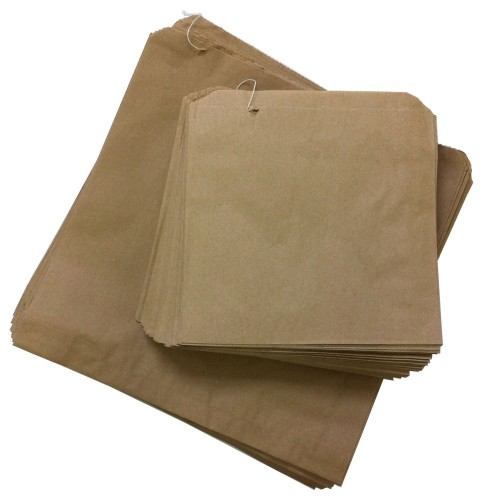 "Brown Kraft Paper Strung Bags (13""x14"" / 254x330mm)"