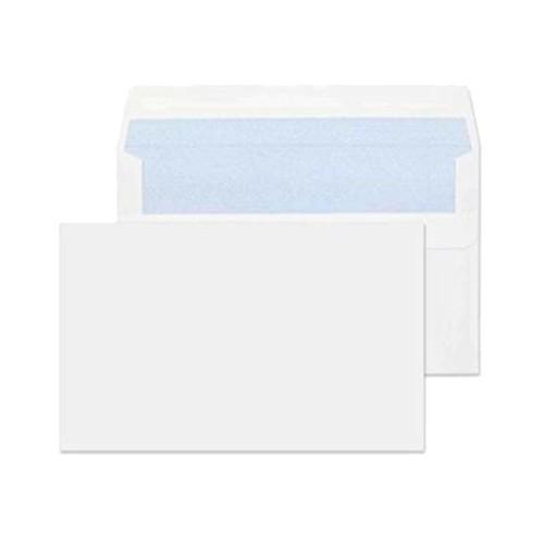 """114x162mm 4 1/2 x 6 3/8"""" C6 White 90gsm Self Seal Envelopes - Qty 1000"""