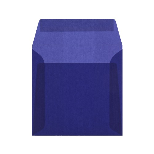 160x160mm Blue Translucent Peel and Seal Envelopes - Qty 10