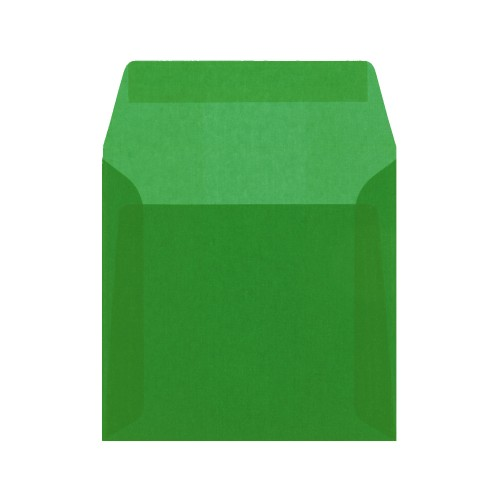160x160mm Green Translucent Peel and Seal Envelopes - Qty 10