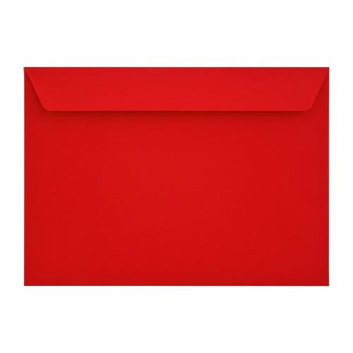 162x229mm C5 Red 90gsm Gummed Envelopes - Qty 100