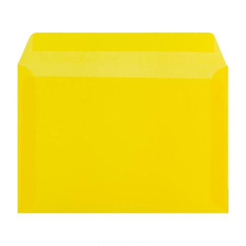 162x229mm C5 Yellow Translucent Gummed Diamond Envelopes - Qty 100