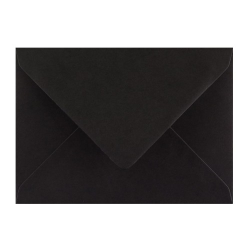 114x162mm C6 Black 110gsm Gummed Diamond Envelopes - Qty 100