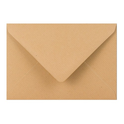 114x162mm C6 Brown Manilla 70gsm Gummed Diamond Envelopes - Qty 100