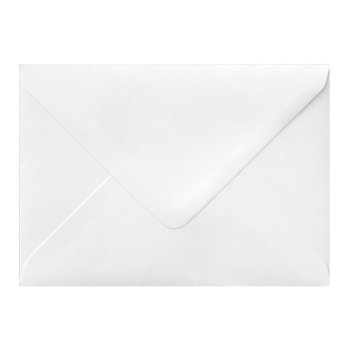 133x184mm White 100gsm Gummed Diamond Envelopes - Qty 100