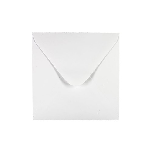 205x205mm White 80gsm Gummed Diamond Envelopes - Qty 100