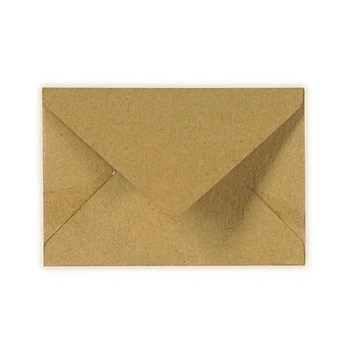 30x44mm Brown Kraft 70gsm Gummed Diamond Envelopes - Qty 100