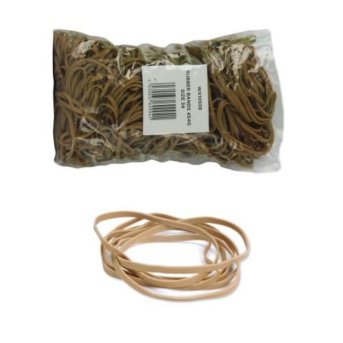 No. 34 (102 x 3mm) Natural Elastic/Rubber Bands (1 x 1lb/454g bag / 600 Bands)