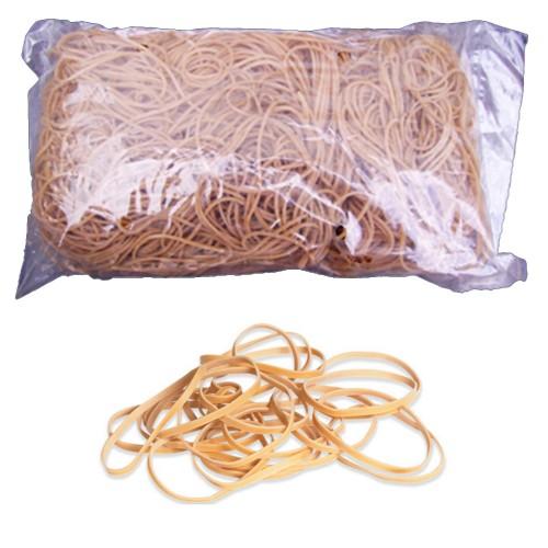 No. 19 (90 x 1.5 x 1.1mm) Natural Elastic/Rubber Bands (1 x 1lb/454g bag / 1100 Bands)