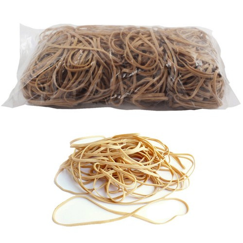 No. 38 (150 x 3 x 1.1mm) Natural Elastic/Rubber Bands (1 x 1lb/454g bag / 330 Bands)