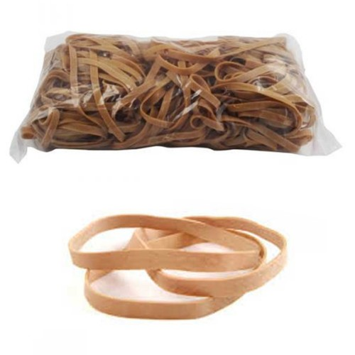No. 69 (150 x 6 x 1.1mm) Natural Elastic/Rubber Bands (1 x 1lb/454g bag / 170 Bands)