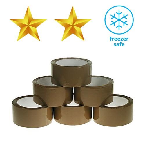 Polypropylene Freezer Spec 25 Micron Packing Tape - Buff - Box of 36